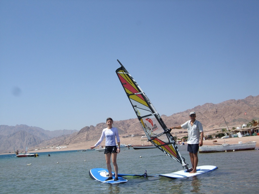 Nauka szkolenie windsurfing kitesurfing Dahab