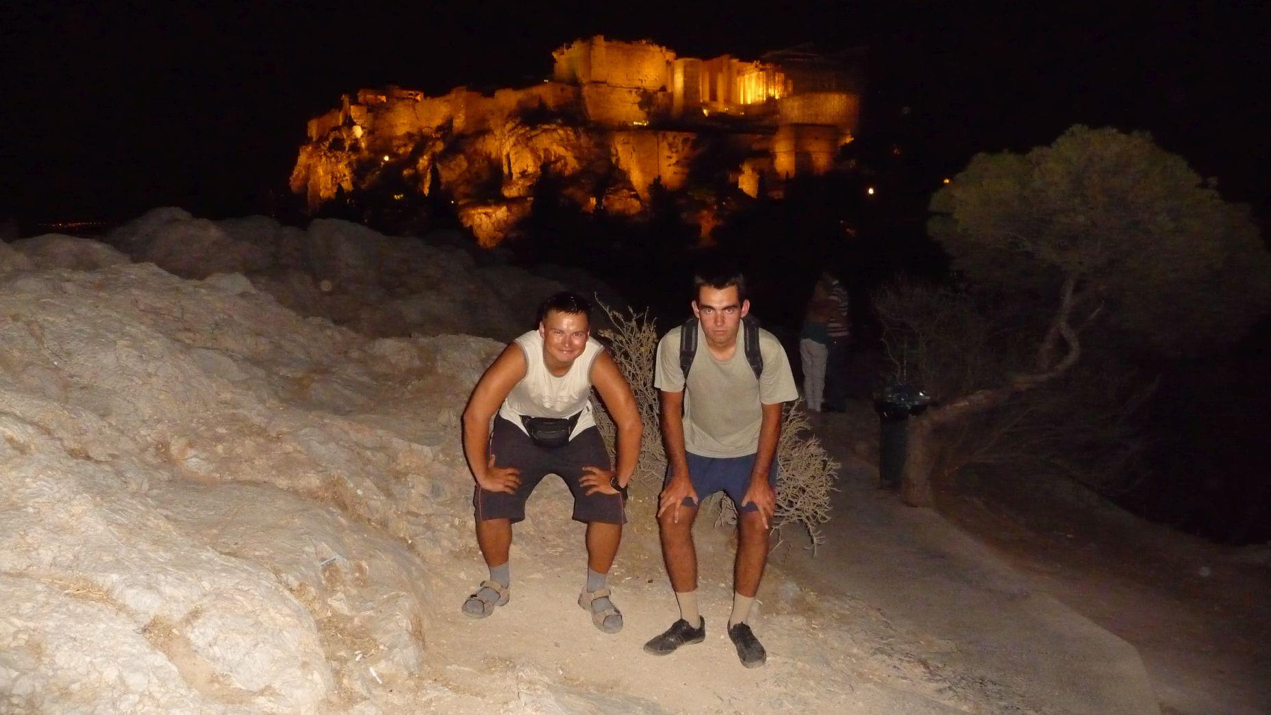 Grecja - Ateny nocą - zdjęcia, atrakcje