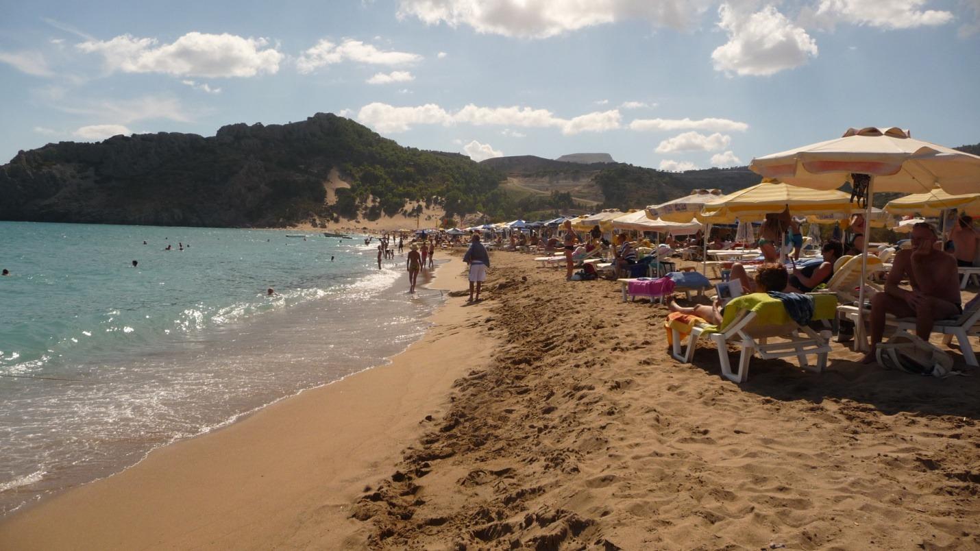 Rodos - Plaża Tsambika - zdjęcia, atrakcje