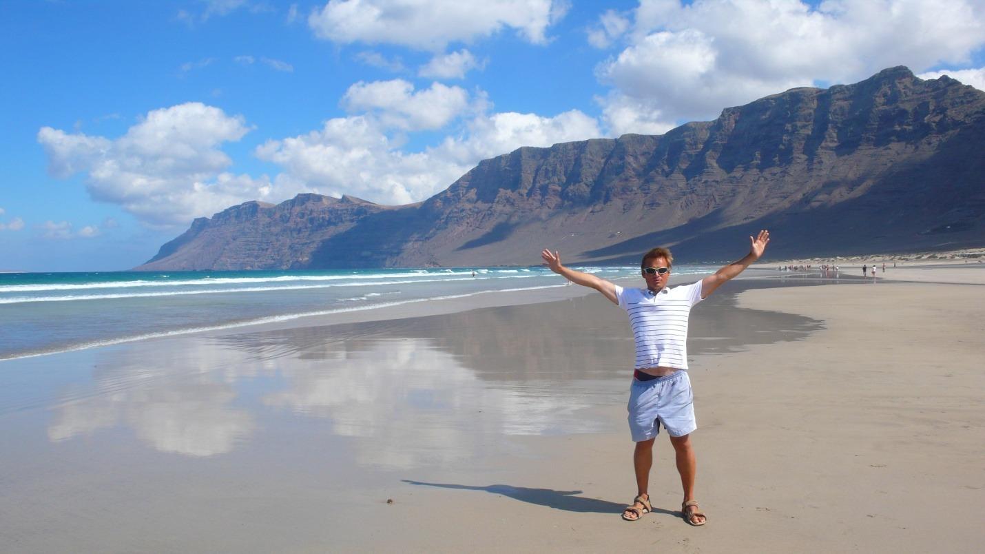 Lanzarote - Playa de Famara - zdjęcia, atrakcje
