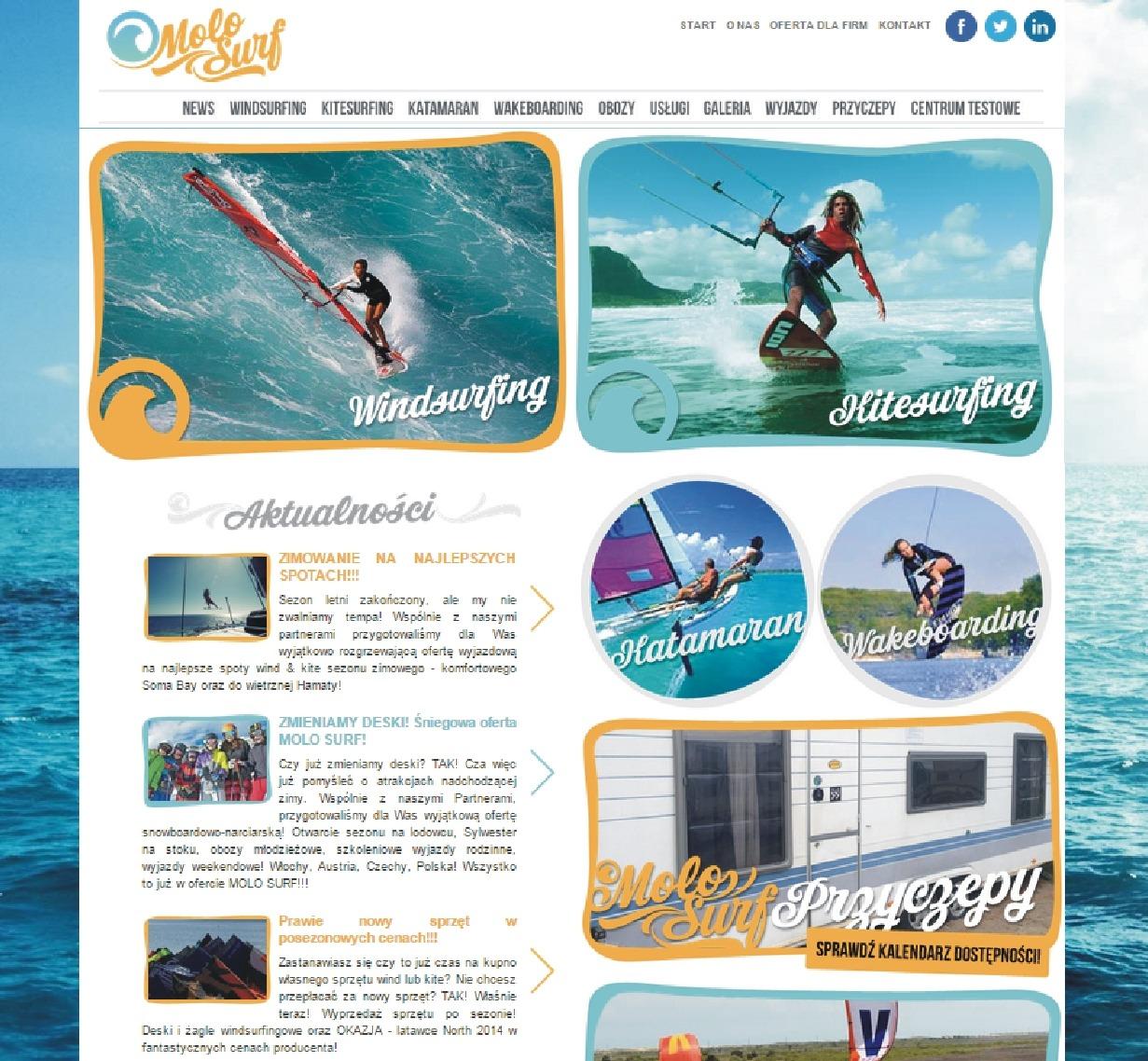 Półwysep Jurata Chałupy Szkoła Windsurfing Kitesurfing