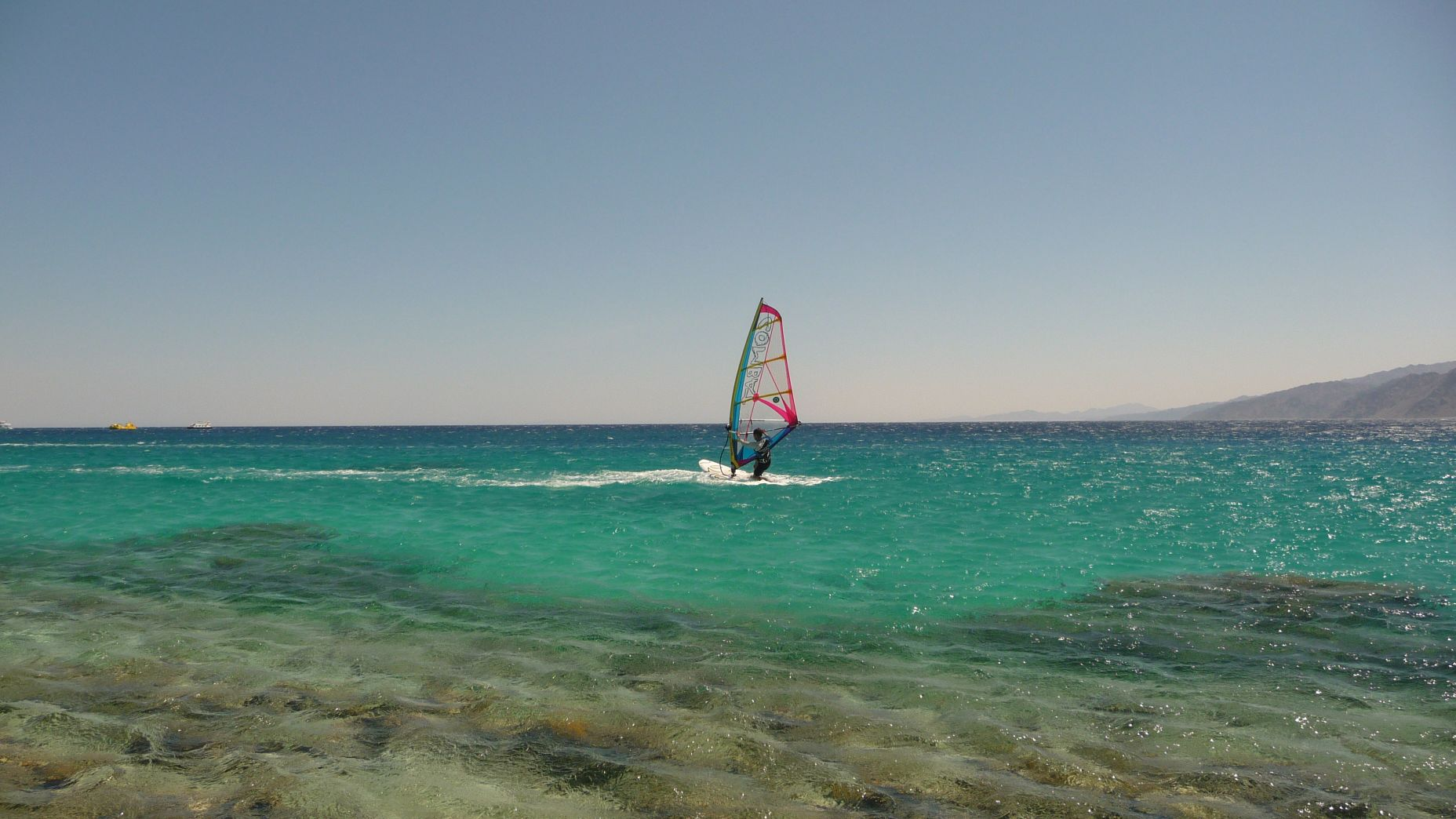 Dahab - sesja freestyle windsurfing - zdjęcia, atrakcje